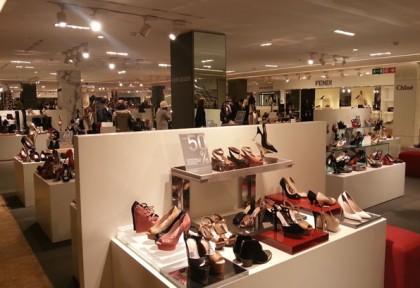 la Rinascente, shoes area