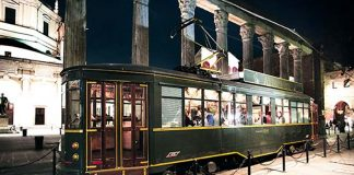 Dining on a ATM tram