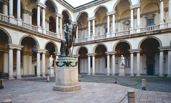 Canova s napoleon statue restored publically www for Accademia di brera