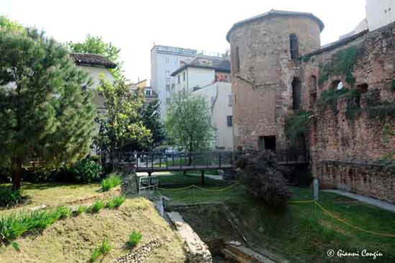 Photo of the Roman age ruins of the Civic Archaeological Museum of Milan