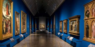 Inside Pinacoteca di Brera