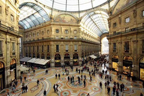 Milano shopping districts for Milano shop