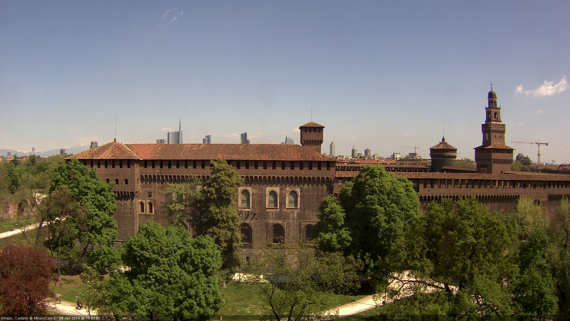 Live Milan Webcam of Castello