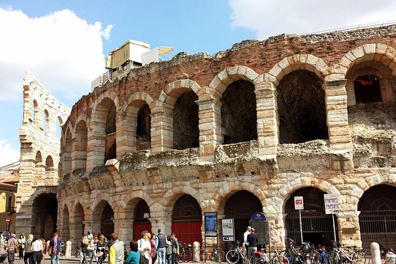 Façade of the Verona Arena