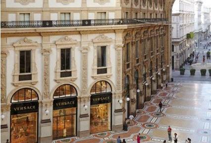 Versace In Galleria Vittorio Emanuele Ii