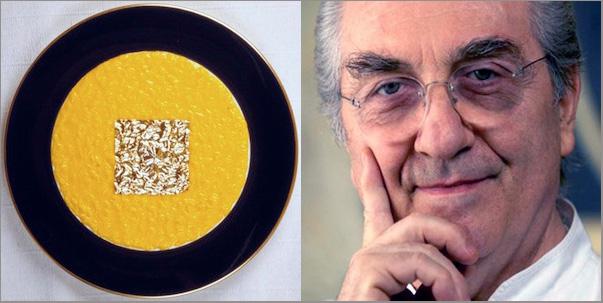 Risotto in foglia d'oro by Gualtiero Marchesi