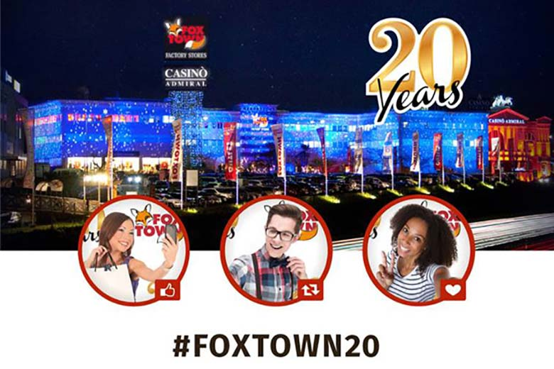 Foxtown factory store celebrates the 20th anniversary of for Milan factory outlet