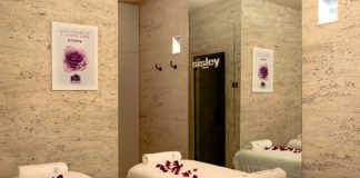 The private room at Sisley spa