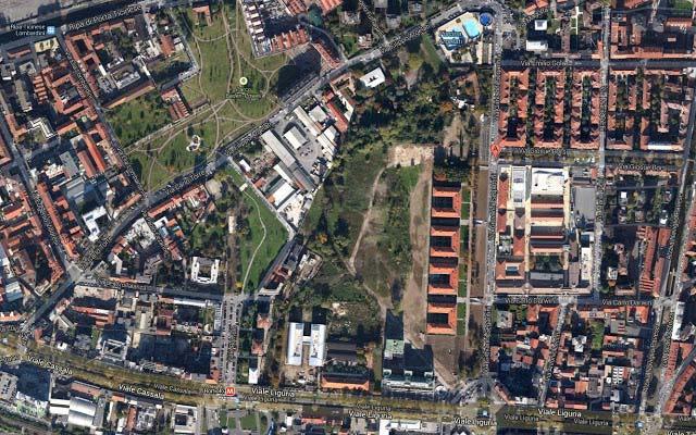 An aerial view of Parco Segantini