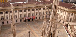 An aerial view of Palazzo Reale