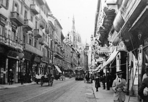 The Streets of Milan in the Early 20th Century
