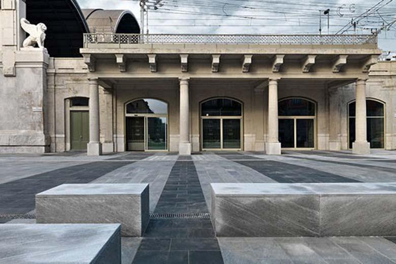 Photo of the Shoah Memorial of Milan