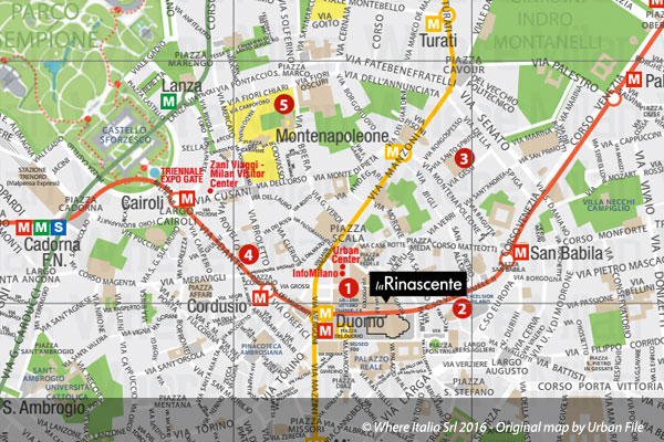 Milan map milan italy free city and underground map altavistaventures Image collections