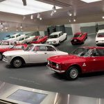 One of the rooms of the Alfa Romeo Museum