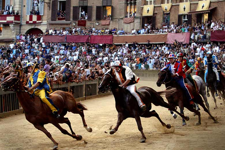 A moment of the Palio di Siena, in Tuscany