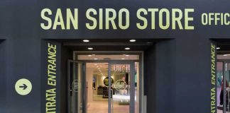 Entrance of the new store San Siro