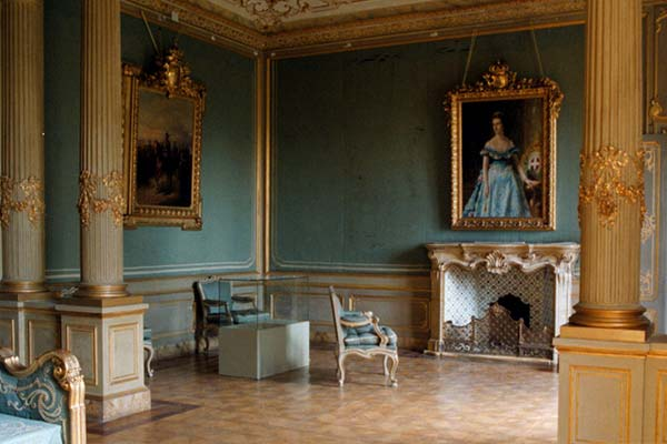 The interiors of Villa Reale in Monza