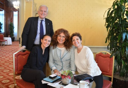 In piedi: Andrea Jarach (Where). Sedute: Maria Granata (Where) fra Alessandra Baldeschi e Francesca de Sario (Hotel Principe di Savoia)