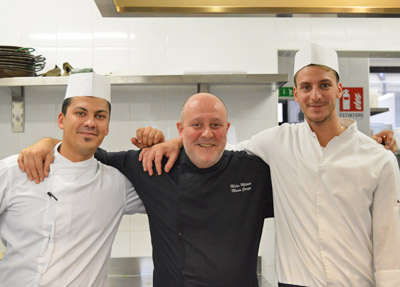 Executive Chef Mario Crespi and his staff
