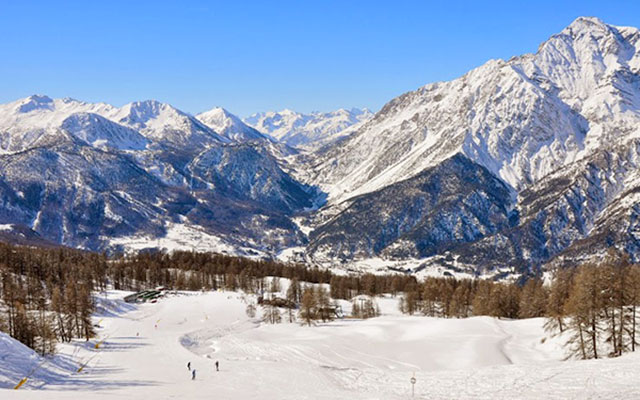 The slopes in Sestriere