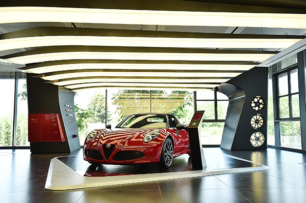 The Alfa Romeo showroom