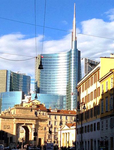 A view of Milan