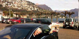 Tesla tour around the Como Lake