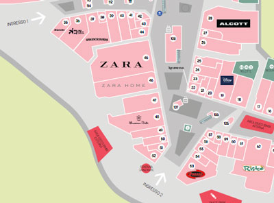 img arese shopping center map
