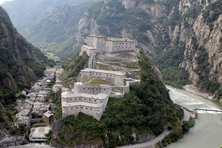 Fort Bard in the Aosta Valley