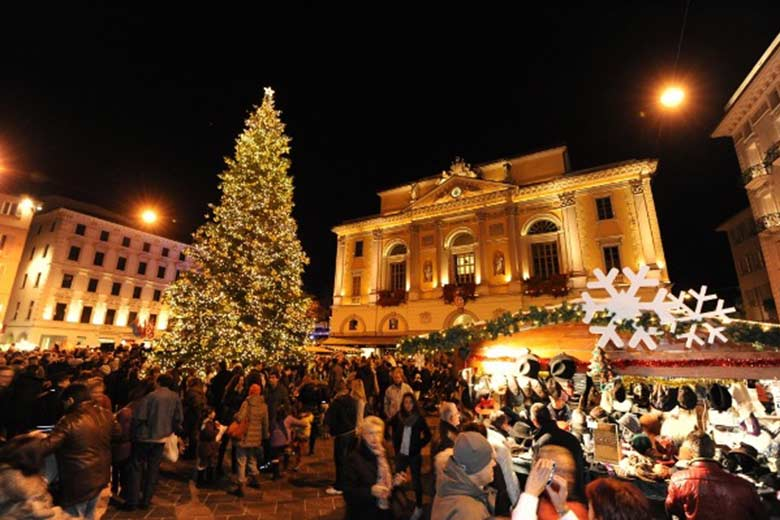 Lugano during Christmas time