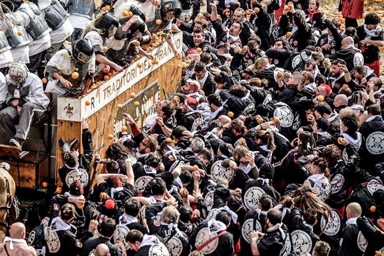 Carnival in Ivrea