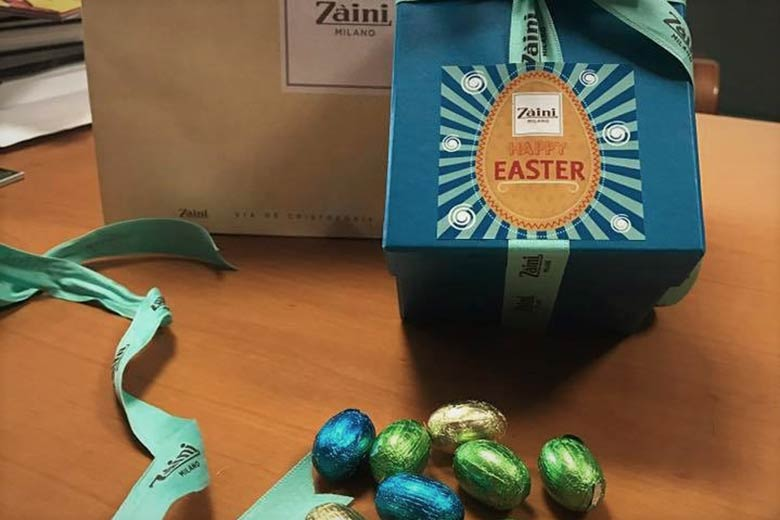 Chocolate eggs for Easter in Milano