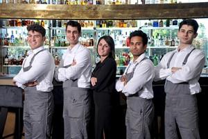 The staff at Bulk Mixology Lounge Bar & Garden, from left Domenico Notaro, Ivan Patruno, Margherita Portesani, Helal Matubborwork and Valentin Ponikarov