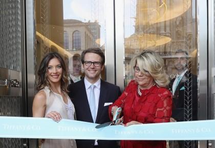 Ribbon cut Tiffany Co Milan