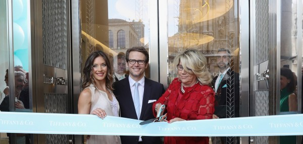 Ribbon cut Tiffany Co Milan
