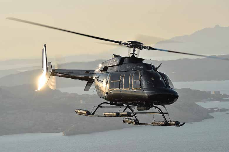 A helicopter by Helitaly