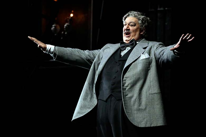Ambrogio Maestri performing during the Don Pasquale