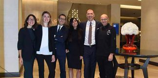 The staff of Hilton Milano, photo credits Casotti/Sardano