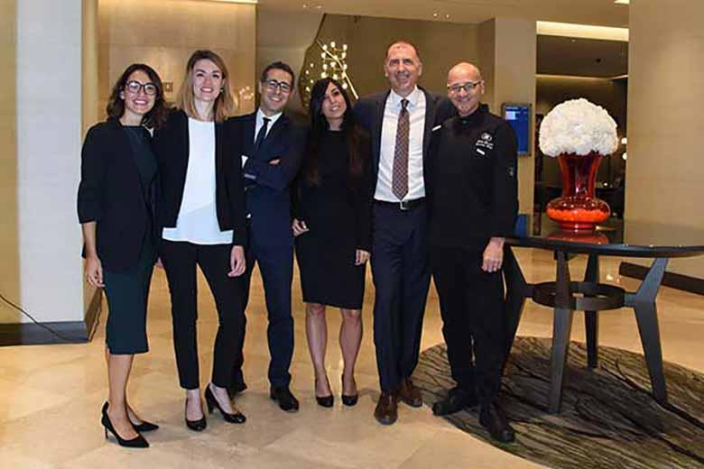 The staff of Hilton Milano, photo credits Casotti/Sardano