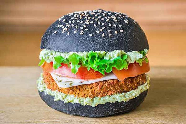 Photo of vegan burger by Flower Burger