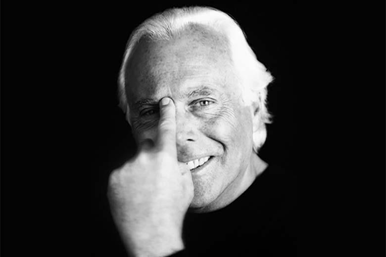 Giorgio Armani, photo credits Bob Krieger