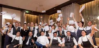 Staff from the Vun restaurant