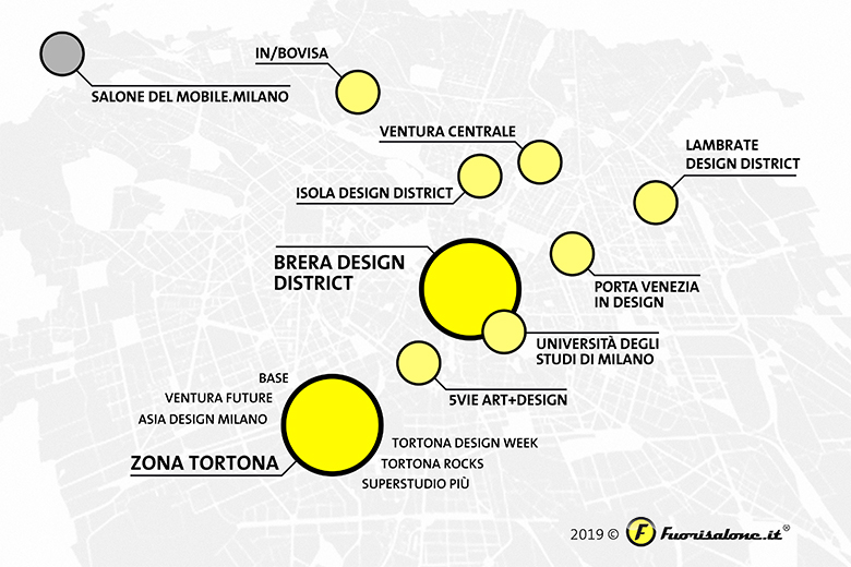 A map of the Design Districts