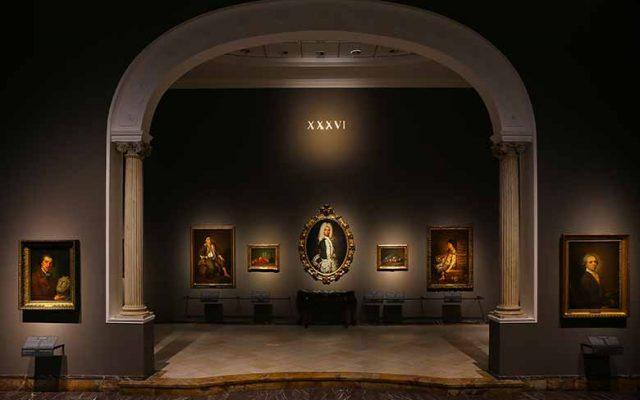 Allestment at Pinacoteca di Brera