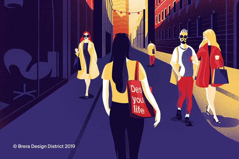 Illustrations by Giovanna Giuliano for Brera Design District 2019