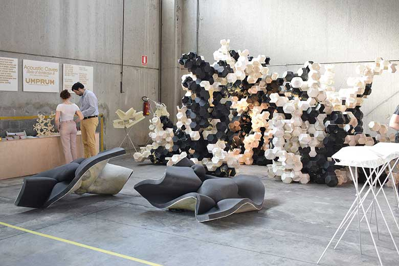 An installation at Furoisalone by Lambrate Design District