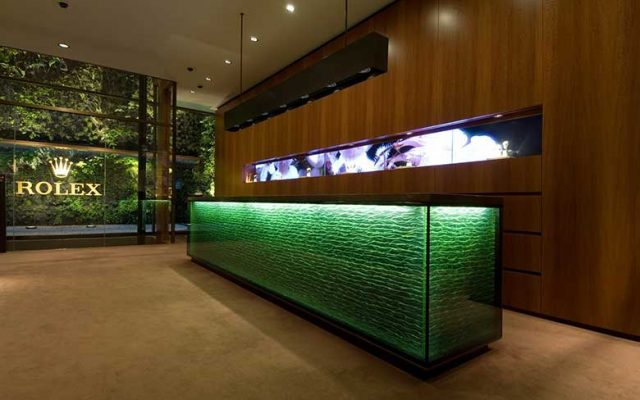 Inside the Rolex Boutique at Pisa Orologeria
