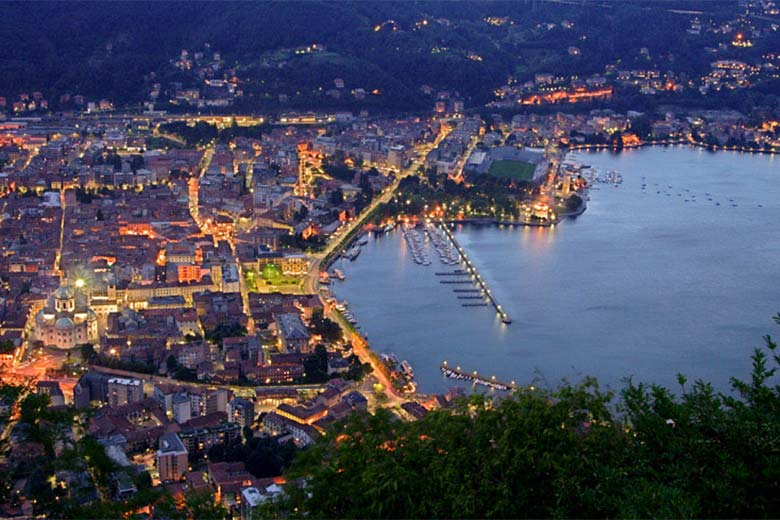 Como by night - Aerial view