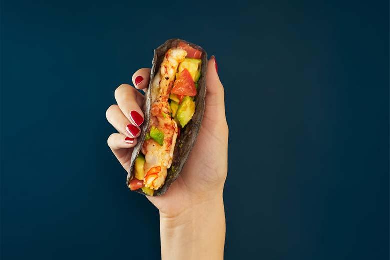 A taco at Good Blue