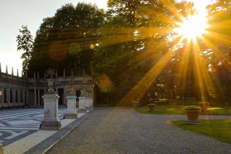 Villa Litta under the summer Sun